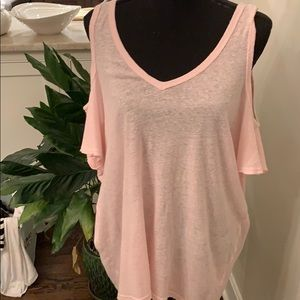 NWOT Michael Stars Cold Shoulder Tee in pink!
